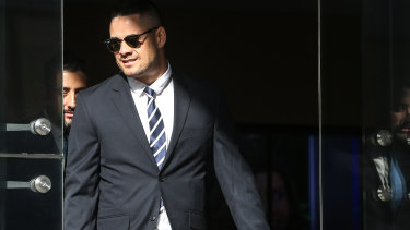 Jarryd Hayne leaves Newcastle Local Court. He is facing allegations he sexually assaulted and bit a 26-year-old woman at her home in the Hunter.