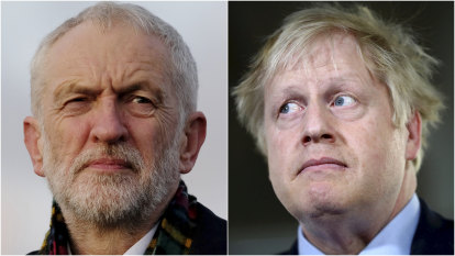 Labour leader Jeremy Corbyn and Prime Minister Boris Johnson enter the election with low approval ratings.