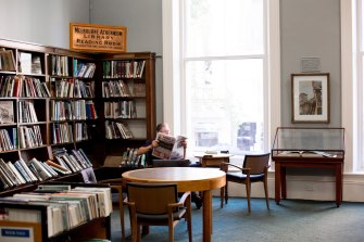 Sue Westwood's favourite corner of the library.