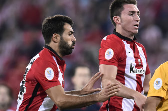 New Melbourne City signing Markel Susaeta (left) in action for Athletic Bilbao.