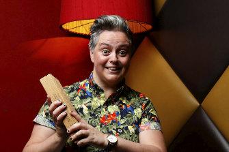 Comedian Geraldine Hickey.
