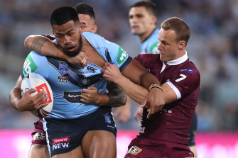 NSW Origin star Payne Haas was arrested in Tweed Heads.