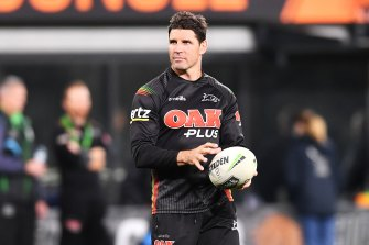 Trent Barrett has been a key member of Ivan Cleary's staff at Penrith since leaving Manly.