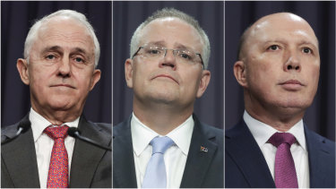 Malcolm Turnbull, Scott Morrison and Peter Dutton fought it out over the Liberal Party leadership.
