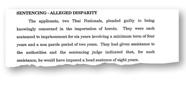 Details from the NSW Court of Criminal Appeal judgment dismissing an appeal on sentence severity by Manat Bophlom and Sorasat Tiemtad.