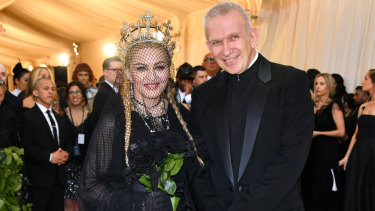 Madonna and Jean Paul Gaultier at the Heavenly Bodies: Fashion & The Catholic Imagination Costume Institute Gala at The Metropolitan Museum of Art in 2018.