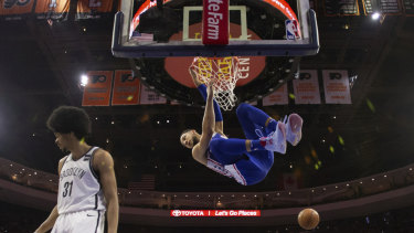 f0b2830df Philadelphia 76ers dump Brooklyn Nets to advance in NBA playoffs