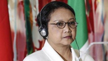 Indonesian foreign minister Retno Marsudi.