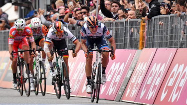 Damiano Cima heads toward his first victory in the Giro.