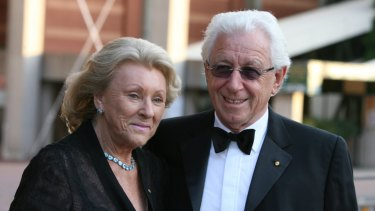 Lowy with wife Shirley in 2009.