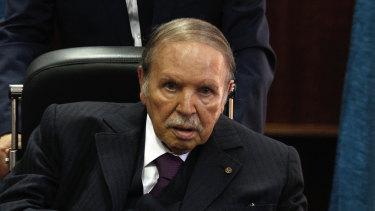 Stepped down: Algerian President Abdelaziz Bouteflika.