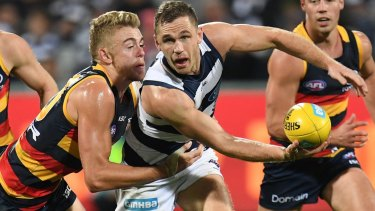 Joel Selwood will lead the Cats again in 2018.