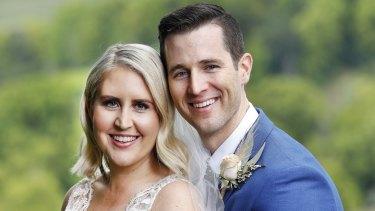 Lauren and Matt on their MAFS wedding day.