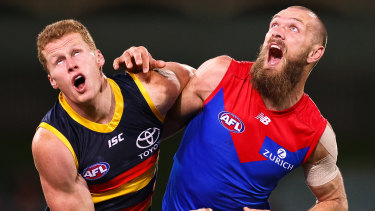 Melbourne's Max Gawn will not play against the Magpies.
