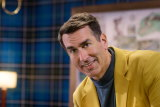 American comic Rob Riggle appears as a commentator in Seven's new reality show Holey Moley.
