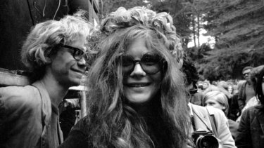 Janis Joplin and Big Brother and the  Holding Company in San Francisco on New Year's Day, 1967.