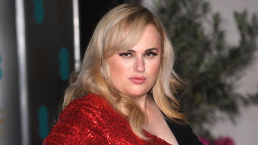 Rebel Wilson poses at last week's BAFTAs.