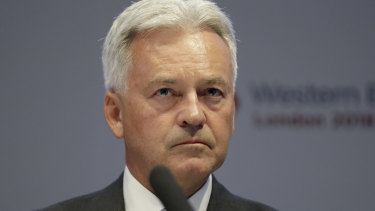 Boris Johnson's 'pooper scooper': Alan Duncan quit the government on Monday.