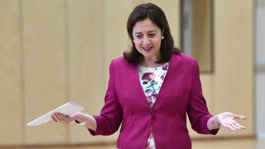Premier Annastacia Palaszczuk said the state was focused on economic recovery. (File photo)