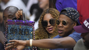 Superstars Beyonce and Jay-Z  are  art lovers - their collection  includes two of the works by Napangati.