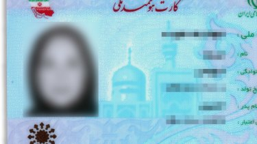 Iranian authorities have restricted Baha'is across the country from obtaining national identification cards, depriving them of basic civil services. The personal data of this card holder have been blurred so the person can't be identified.
