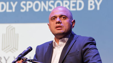 UK Home Secretary Sajid Javid at the Conservative Progress conference in London.
