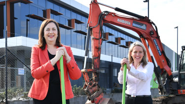 Queensland Premier Annastacia Palaszczuk and Tourism Minister Kate Jones.