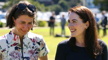 NSW Premier Gladys Berejiklian and Felicity Wilson in 2017.