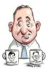 Chris Spence, once a One Nation advisor then a Liberal MP, is back in Macquarie Street to work for Corrections Minister Anthony Roberts. Illustration: John Shakespeare