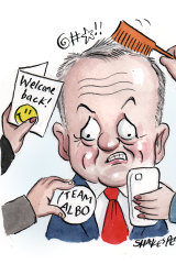 It was always going to be hard for Bill Shorten to adjust to post-leadership life. Illustration: John Shakespeare