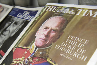 Prince Philip's death has attracted headlines all over the world.