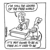 Not as free as it used to be... A cartoon published the time of the article