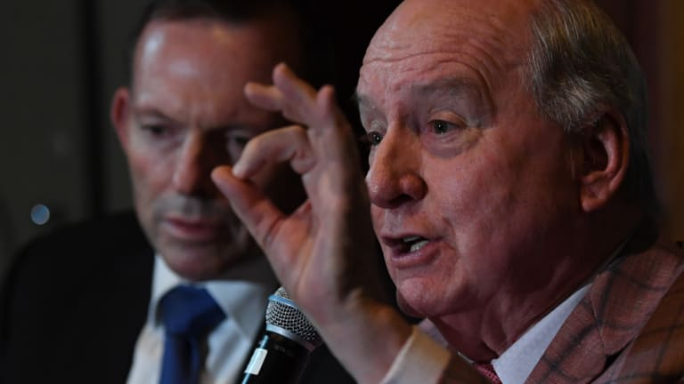 Sydney radio host Alan Jones, pictured with close ally Tony Abbott, had admitted he called MPs and urged them to topple Turnbull.