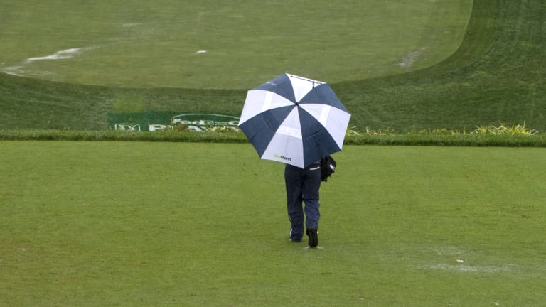 Waterlogged: The course has been deemed unplayable.