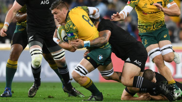 Staying put: Sean McMahon has decided to play for the Sunwolves next year.