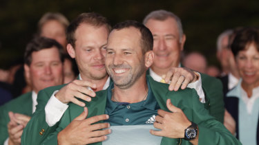 Joy of six: Sergio Garcia broke a long major drought at the Masters in 2017.