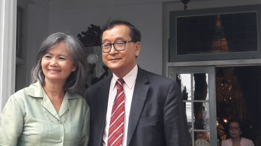 Exiled Cambodian opposition leaders Mu Sochua and Sam Rainsy travelled to Jakarta in April to step up pressure on regional governments over the conduct of Cambodian Prime Minister Hun Sen.