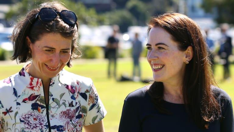 NSW Premier Gladys Berejiklian and Felicity Wilson in 2017.