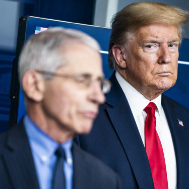 Opinion polls routinely showed two-thirds of Americans trusted Anthony Fauci, compared to barely a quarter who trusted the president.