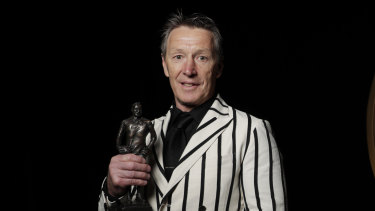 Craig Bellamy after winning the Dally M Coach of the Year.