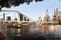 The design for the Neville Bonner Bridge, from Queen's Wharf to South Brisbane.