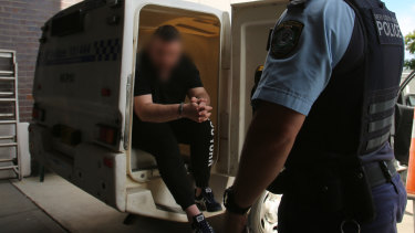 The 27-year-old man was arrested at his Oxley Park home.