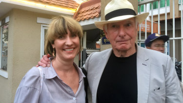 Australian director Peter Weir with Jesse Ricketson's partner Alex in Cambodia on Thursday.