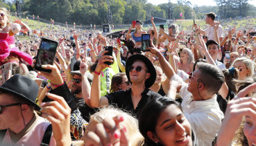 Punters at this year's Splendour in the Grass music festival.