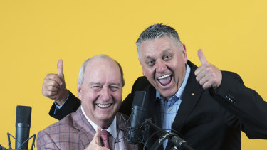 Macquarie Media radio hosts Alan Jones and Ray Hadley.