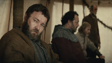 Joel Edgerton, who wrote the screenplay with David Michod, plays Sir John Falstaff in The King.