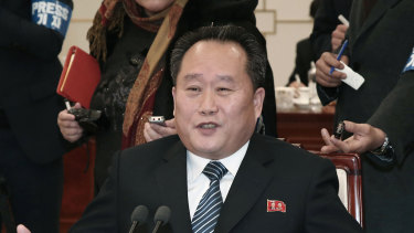 Sharp-tongued Ri Son Gwon in 2018.