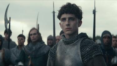 Timothee Chalamet plays Hal in The King.