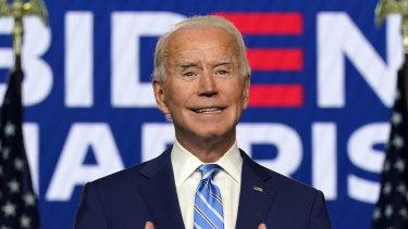 Joe Biden speaking on November 4.