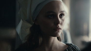 Lily-Rose Depp as Catherine in The King.
